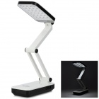 2W 360 Degrees Rotation Rechargeable 800mAh 220lm 6000K 24-LED White Light Desk Lamp - Black + White