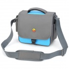ZEAB-1105 Nylon Camera Bag for DSLR Cannon 550D / 600D / Nikon D90 / 70 + More - Blue + Dark Green