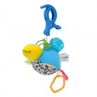 Plush Honeybee Style Pulling Vibration Bed Hanging Toy w/ Clip for Baby - Multicolor