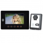 "SY808MA11 1-to1 Wired 7"" TFT LCD Color Rainproof Video Door Phone w/ Night Version - Black"