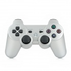 Bluetooth V3.0 Double Shock Wireless Controller for PS3 / PS3 Slim / PS3 CECH4000 - Silver