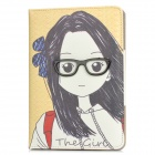 Girl Pattern Protective PU Leather Flip-Open Case for Ipad MINI - Yellow