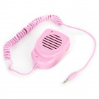Retro Handheld Interphone with Microphone and Loudspeaker for iPhone 4 / 4S / 5 - Pink (2 x AAA)