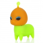 XM-136-b Nette 4-Leg Alien-Stil USB 2.0 Flash Drive - Dark Orange + Grün (8GB)