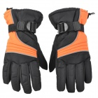 Universal Motorcycle Windproof Warm Glove - Black + Orange