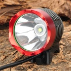 UltraFire Cree XM-L T6 860lm 3-Mode White Bicycle Headlamp - Red + Black (4 x 18650)