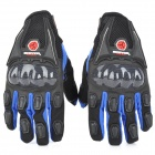 SCOYCO MC09 Full-Fingers Motorcycle Racing Gloves - Black + Blue (Size M)