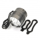 5 x Cree XM-L T6 3000lm 3-Mode White Bicycle Headlamp - Dark Grey (4 x 18650)