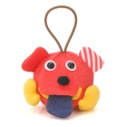 E-046 Strange Wow Prophet Artificial Plush Doll / Toy w/ Strap - Red + Yellow