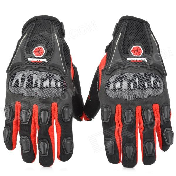 SCOYCO MC09 Full-Fingers Motorcycle Racing Gloves - Black + Red (Size L) good hand full fingers cycling gloves black red pair size xl