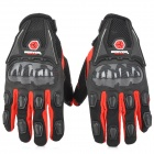 SCOYCO MC09 Full-Fingers Motorcycle Racing Gloves - Black + Red (Size L)