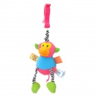 7109 Cute Monkey Shaped Pulling Vibration Bed Hanging Toy w/ Clip for Baby - Multicolored