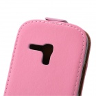 Protective Genuine Leather Case for Samsung i8190 Galaxy S3 Mini - Pink