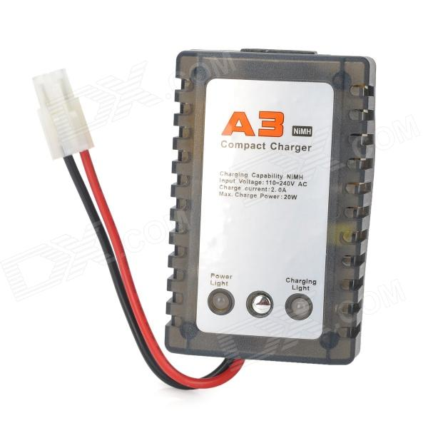A3 Compact Charger for R/C Helicopter NiMH Battery - Translucent Grey (110~240V / EU Plug)