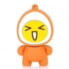 XM-04-4 Nette Egg Man-Stil USB 2.0 Flash Drive w / Strap - Orange + Gelb (32GB)