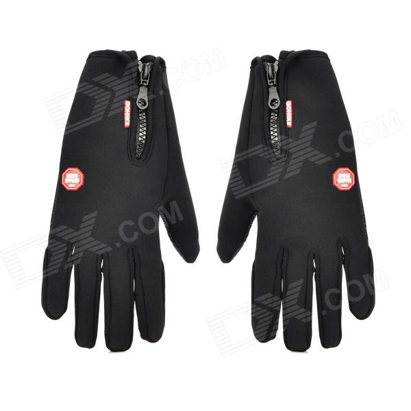 WINDSTOPPER Outdoor Anti-Skid Windproof Warm Gloves - Black (M / Pair)