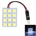 PointPurple 5050-12 T10 / BA9S / Festoon 2W 175lm 12-SMD 5050 LED White Light Car Reading Lamp (12V)