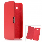 Folio-Open Protective PU Leather Case for Xiaomi M2 - Red