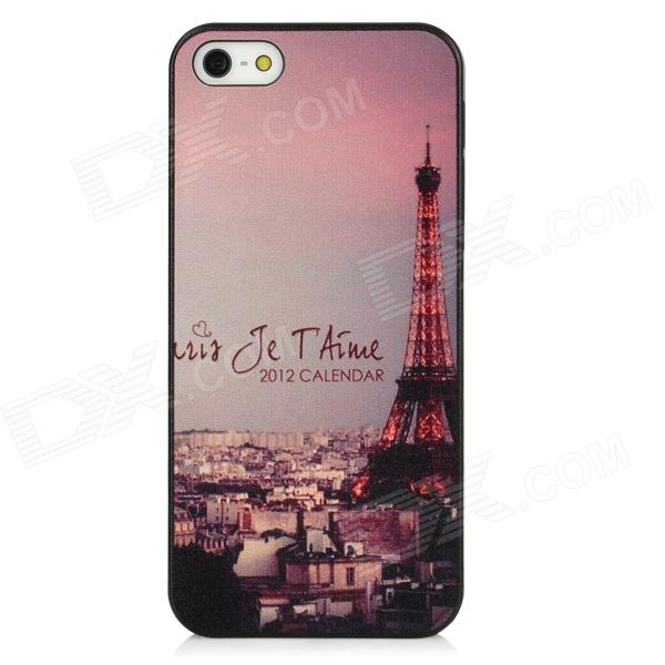 Relief Eiffel Tower Style Protective PC Back Case for Iphone 5 - Black + Pink + Grey стоимость