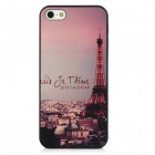 Relief Eiffel Tower Style Protective PC Back Case for Iphone 5 - Black + Pink + Grey