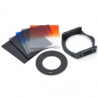 S1304 8-in-1 Gradual ABS Lens Filters + Lens Mount + Ring Set for 52mm Lens Camera - Black