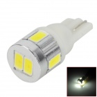 DM13011138 T10 3W 150lm 6-SMD 5730 LED White Light Car License plate / Reading Lamp - (2 PCS / 12V)