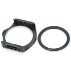 S1305 8-in-1 Gradual ABS Lens Filters + Lens Mount + Ring Set for 72mm Lens Camera - Black