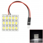 YT150638 T10 / BA9S / Festoon 7W 400lm 15-SMD 5730 LED White Light Car Roof Light - (DC 12V)