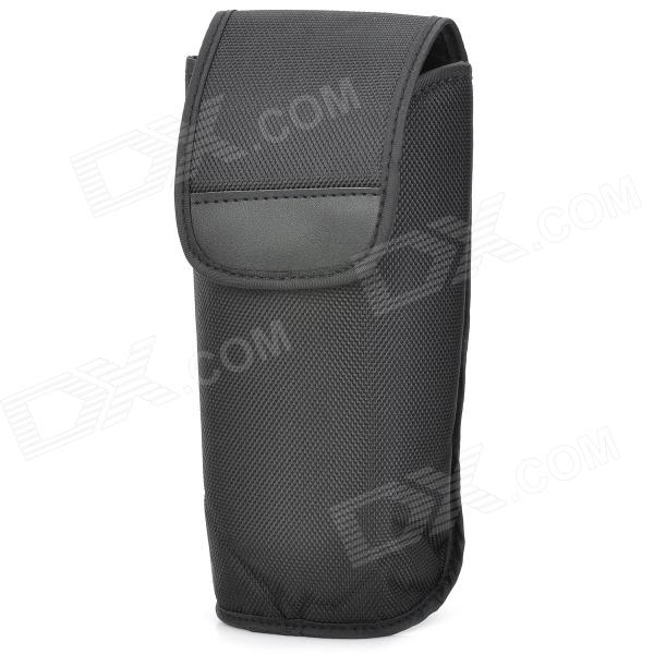 S1304 Protective Quilted Fabric Flashlight Bag for Nikon SB-600 / Cannon 430EX + More - Black