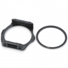 S1306 8-in-1 Gradual ABS Lens Filters + Lens Mount + Ring Set for 77mm Lens Camera - Black