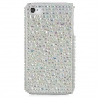 Protective Bling Bling CrystalPlastic Back Case for Iphone 4 / 4S - White