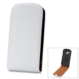 Protective Genuine Leather Case for Samsung i8190 Galaxy S3 Mini - White