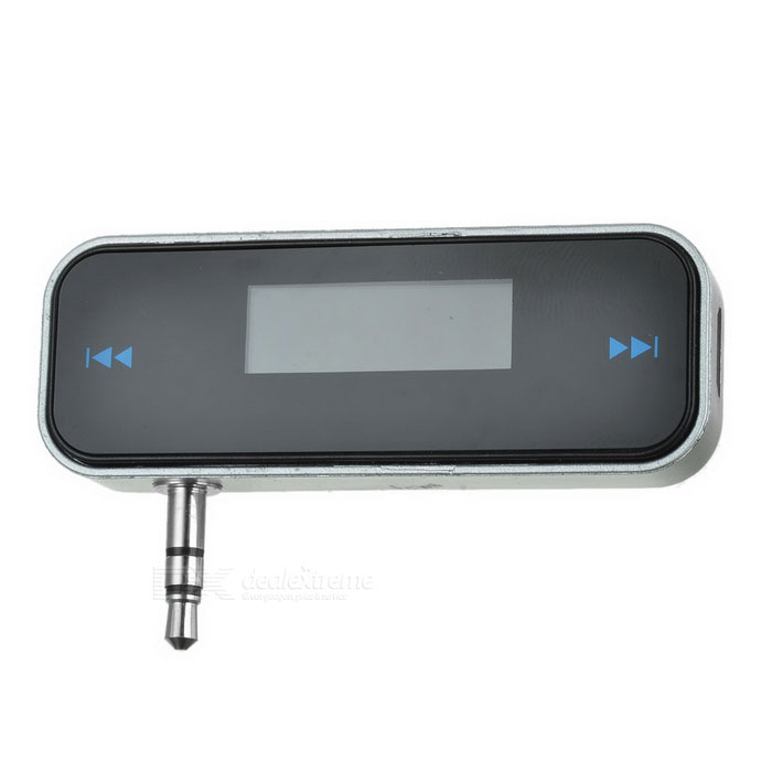"0.8"" LCD Rechargeable Car Handsfree FM Transmitter for Iphone - Black"