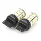 744350-27W T20 5W 300lm 27-SMD 5050 LED luz do carro luz branca - (dc 12V / 2 pcs)