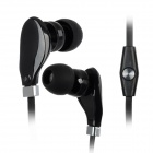 Wallytech WHF-108 In-Ear Stereo Earphone w/ Microphone for Ipad / Ipod / Iphone / Samsung - Black