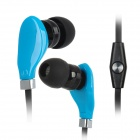 Wallytech WHF-108 In-Ear Stereo Earphone w/ Microphone for Ipad / Ipod / Iphone / Samsung - Blue