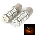 11571210-68Y 1157 4.5W 250lm 590nm 68-SMD 3528 LED Yellow Light Car Lamps - (2 PCS / DC 12V)