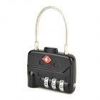 JUST LOCK TSA329 Zinc Alloy Travel Coded Lock - Black