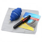Pisen Z1304 4-in-1 Lens Pen + Cleaning Cloth + Lens Paper + Air-Blower Cleaning Tools Kit - Blue