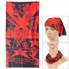 Multi-functional Outdoor Sports Bicycle Cycling Seamless Head Scarf - Red + Black