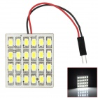 HD2428 T10 / BA9S / Festoon 12W 500lm 24-SMD 5630 LED White Light Car Roof Light - (DC 12V)
