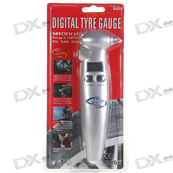 LCD Digital Tire Pressure Gauge (2~150PSI)