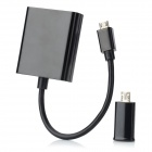 Universal 1080p Micro USB 5-Pin / 11-Pin Male to HDMI Female MHL Adapter Cable - Black (15cm)