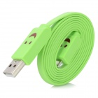 XL-3F Smile Face Pattern Micro USB to USB Data Sync / Charging Cable for Samsung Galaxy S3 / Note 2