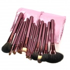 MEGAGA 1005-1 Professional 24-in-1 Wool Cosmetic Makeup Brushes Set w/ Bag - Silvery Violet