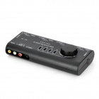 Video Audio Switcher w/ 2-Out S-Video - Black + White (4-In / 1-Out)