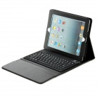 SingFire SF-KY01 Wireless Portable 76-key Bluetooth Keyboard w/ PU + Silicone Case for Ipad - Black