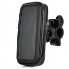 Bicycle Bike Protective Waterproof Bag w/ 360 Degree Rotating Mount Holder for Iphone 5 - Black