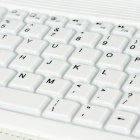 SingFire SF-KY01 Wireless Portable 76-key Bluetooth Keyboard w/ PU + Silicone Case for Ipad - White