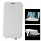 Protective PU Leather Case Stand w/ 3000mAh External Battery for Samsung Galaxy S3 i9300 - White